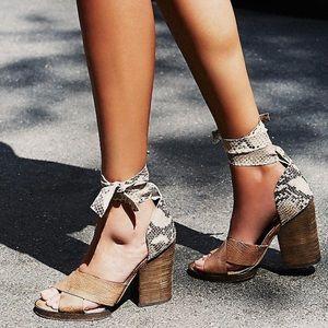 Free People Shoes - Free People Wrap Heels
