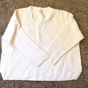 {Plus} Women's J. Jill  V-Neck Ribbed Sweater 2X