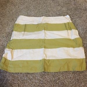 J. Crew linen striped skirt