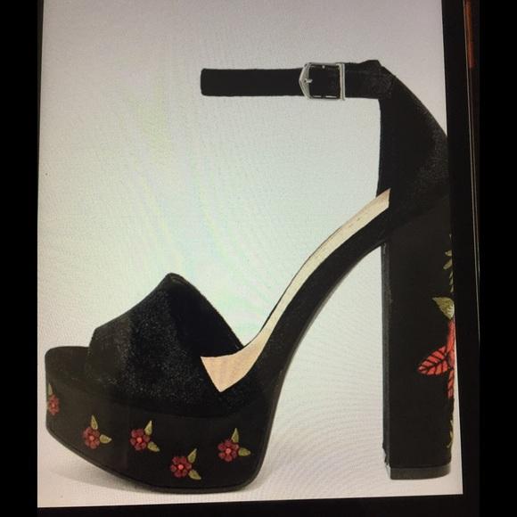 068d2d1fd8c Chinese Laundry Shoes - Chinese Laundry Ariana Black Velvet Platform Heels