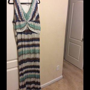 Dresses & Skirts - Plus size striped maxi dress
