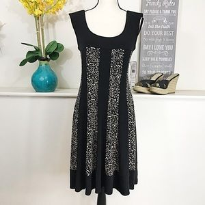 Jessica Howard Dresses & Skirts - Jessica Howard stretch dress black w/ animal print