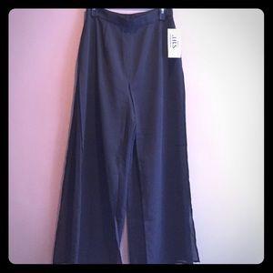 NWT - Double layered black pants 8petite