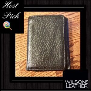 Wilsons Leather Other - 🆕Wilson🖤Black Leather🖤 Bifold🖤Bison Wallet🖤