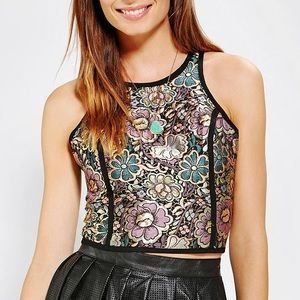 Urban Outfitters Tops - UO Cropped Jacquard Lane Back Tank