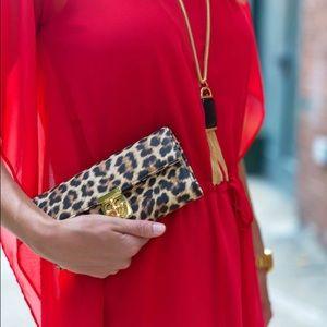 NWT Charming Charlie Style Watch leopard clutch