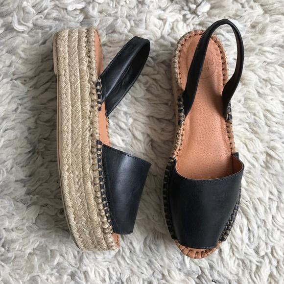 000885ceab4 Alohas sandals black leather espadrilles sandals