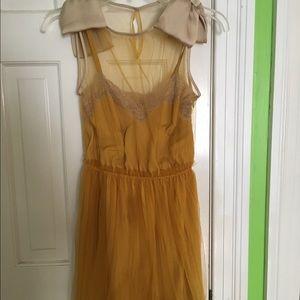 Rodarte Dresses & Skirts - Rodarte mesh dress with built in satin slip