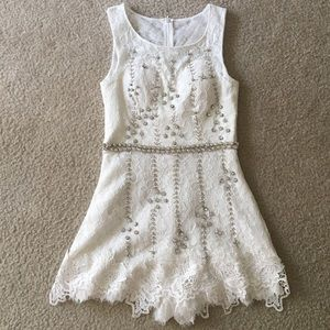 Pants - Handmade crystal lace jumpsuit from Korea