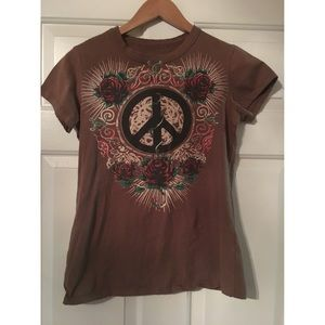 Ascend Tops - Rose and Peace Tee