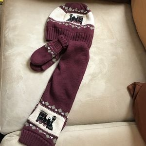 Janie and Jack Other - Janie & Jack hat, mitten & scarf set