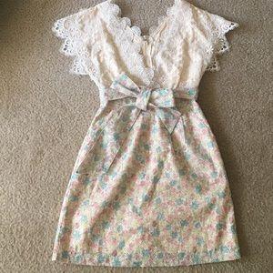 Dresses & Skirts - Floral lace princess dress HANDMADE