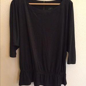 Ann Taylor Loft silky cotton blouse