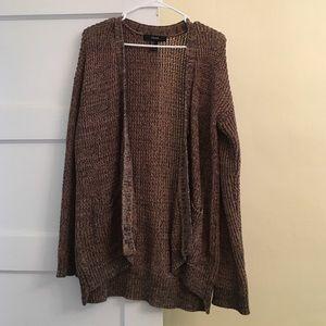 Brown Oversized Cardigan