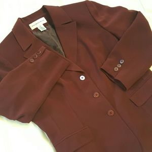 Jones New York Jackets & Blazers - Maroon blazer