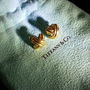Tiffany & Co. Jewelry - Tiffany & Co 18K gold Signature X earrings