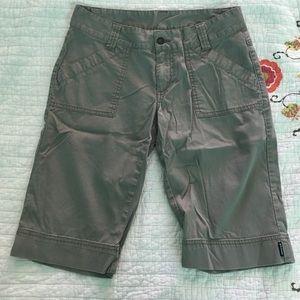 Prana Pants - Prana Bermuda Shorts, Stone Khaki, size 8