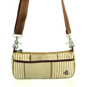 Lauren Ralph Lauren Handbags - RALPH LAUREN LAUREN Brown & White Houndstooth Bag