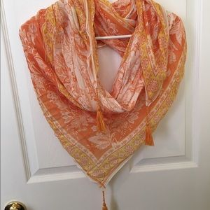 Threads 4 Thought Accessories - Threads 4 Thought Orange and yellow scarf/wrap