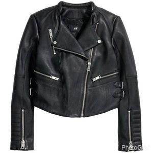 H&M genuine leather jacket BNWT
