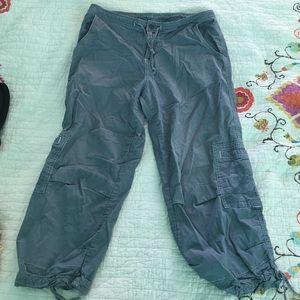 Prana Pants - Prana Blue Cargo pants, cropped capris size Large