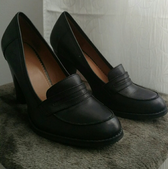 Guess Black Pumps Leather Heels Size 8.5
