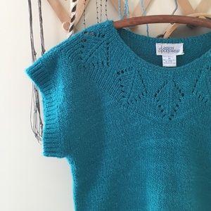 Vintage Sweaters - Vintage Short Sleeved Sweater
