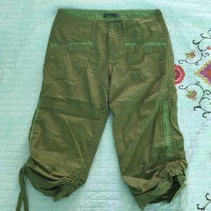 Prana Pants - Prana Green Cargo Capri Pants, size 8