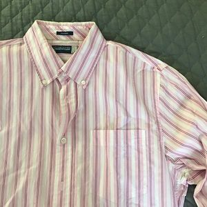 Fox Other - Pink striped button down shirt
