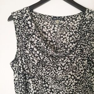 Cable & Gauge Black, White, Gray Patterned Top