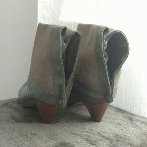 Urban Outfitters Shoes - Vintage Style Gray Leather Booties Short Heel Sz 8