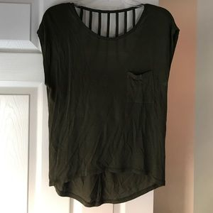 Katie K Tops - Olive great shirt, cute back detail!