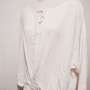 Ella Moss Tops - NWT! Boho white blouse with tie by Ella Moss!