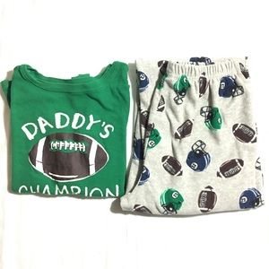 Carter's Other - Boy's football Daddy's Champion pajama set