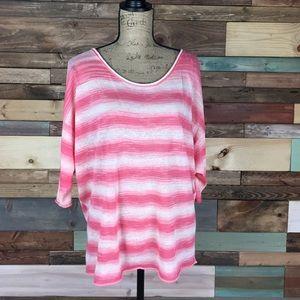 Calypso St. Barth Tops - Calypso St Barth Pink Ombre Stripe Tunic - OS