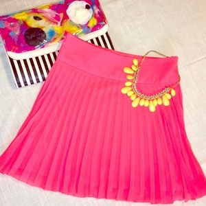 Express Dresses & Skirts - Pleated Neon Mini Skirt