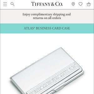 38 off tiffany co accessories tiffany co silver for Tiffany business card case