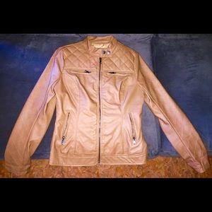 Tan Moto Jacket, S