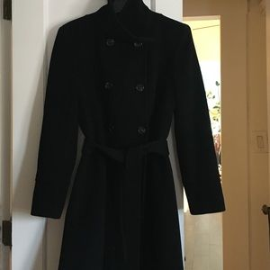 Company by Ellen Tracy Double Breasted Wrap Coat