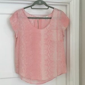 Joie silk short sleeve blouse
