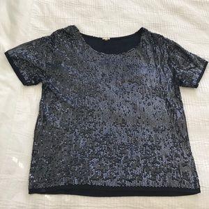 J.Crew Sequin Shirt XS