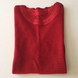 Michael Stars Tops - Michael Stars Brick Red/Red Reversible Thermal Tee