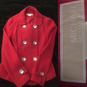 💥SALE💥Michael Kors Red Peacoat Size Small