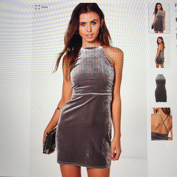 e632e20e9b4e Boohoo Dresses | Petite Sia Velvet High Neck Mini Dress | Poshmark