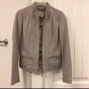 NWT Michael Kors Leather Jacket. Size XS