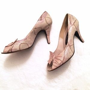 Stuart Weitzman Shoes - VINTAGE Stuart Weitzman for Mr Seymour peep toe