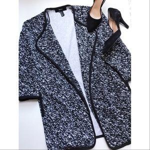 Forever 21 Jackets & Blazers - Black & white Open Over Coat🎀