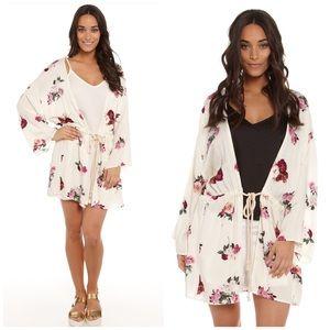 MINKPINK Sweaters - Minkpink Floral Kimono Cardigan