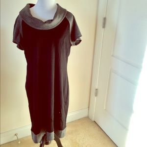 Spense Dresses & Skirts - NWT Black and Gray Cowl Neck Dress💝