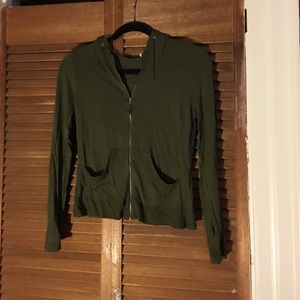 L.A.M.B. Sweaters - L.a.m.b. Cashmere green zip up sweater.